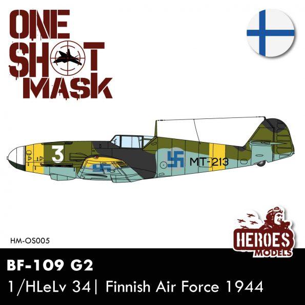 BF-109 G2 | 1/Hävittäjälentolaivue 34 | ONE SHOT MASK