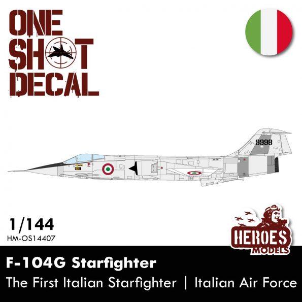 1/144 F-104G | The 1st Italian Starfighter | ONE SHOT DECALS